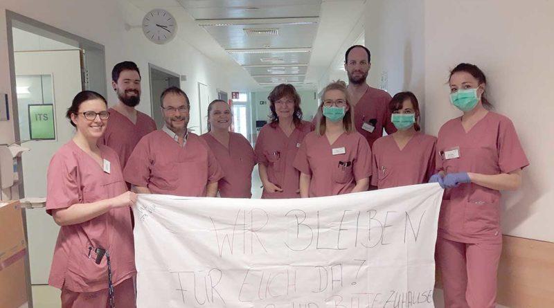 Klinikum Niederlausitz bittet: Bleibt zu Hause – wir bleiben für euch hier