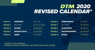 ITR gibt neuen DTM-Kalender 2020 bekannt – Lausitzring im Oktober
